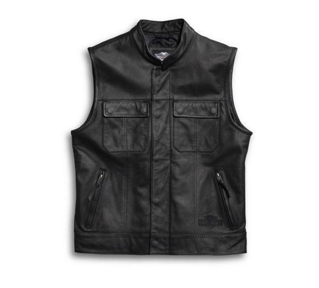 mens foster leather vest