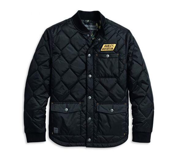 mens quilted camo lined jacket