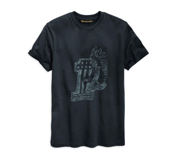 Front view of mens 1 eagle tee