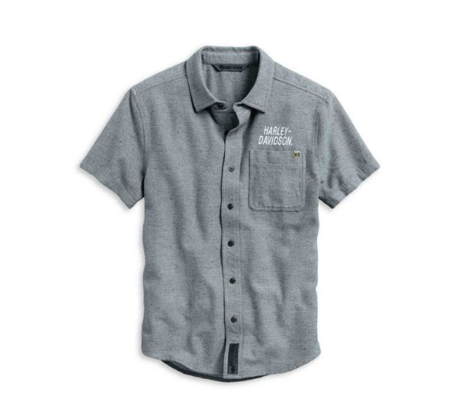 Front view of mens 1 graphic slim fit shirt
