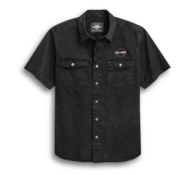 Front view of mens eagle logo shirt