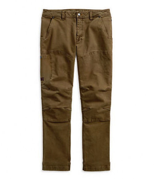 Front view of mens straight leg fit modern canvas pants