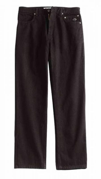 Front view of mens original traditional black jeans