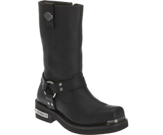 Front view of mens landon 10 inch motorcycle boots