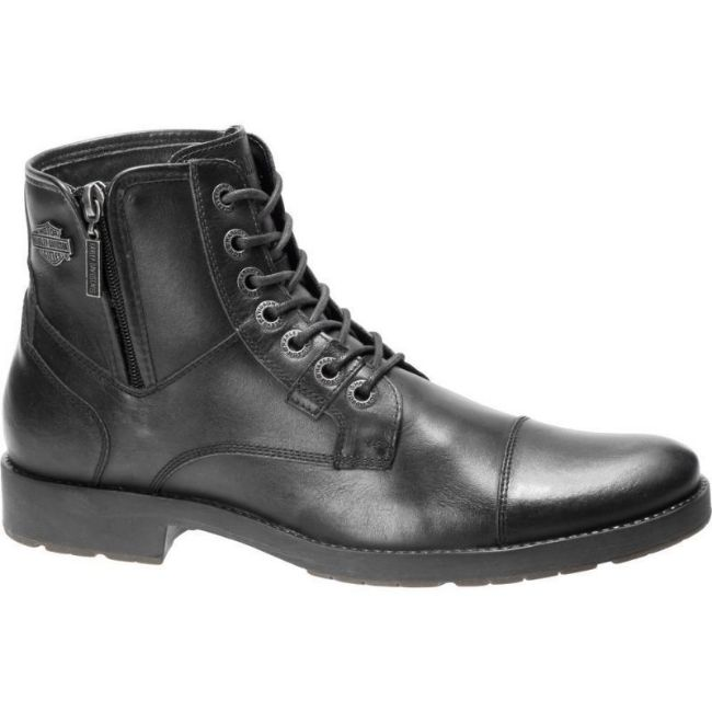 Side mens black maine casual boot