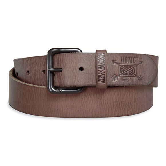 mens arrow leather belt