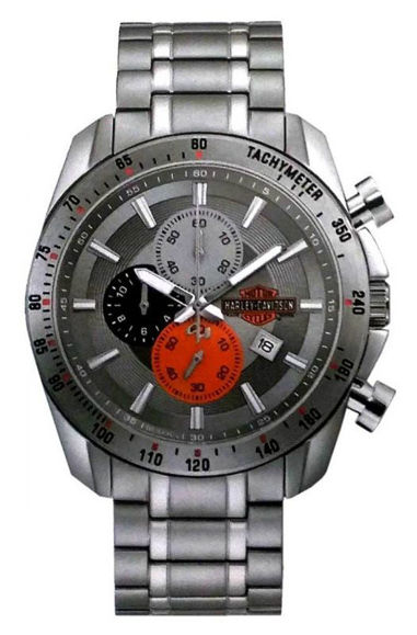 Front view of mens bulova vintage bs chronograph stainless steel watch