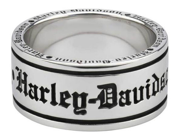 mens old english script band ring