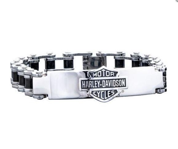 Bracelet mens bar shield bike chain id bracelet