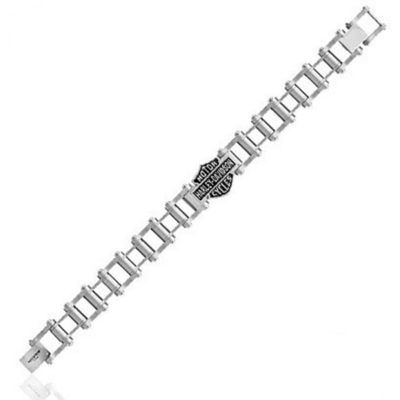 Bracelet mens steel engine bike chain bracelet