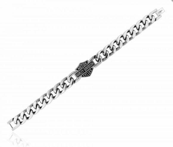 Bracelet bar shield stainless steel chain bracelet