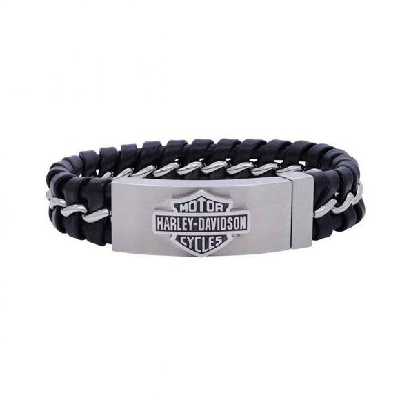 Bracelet mens hidden clasp bar shield bracelet