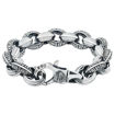 Bracelet mens plain silver bracelet