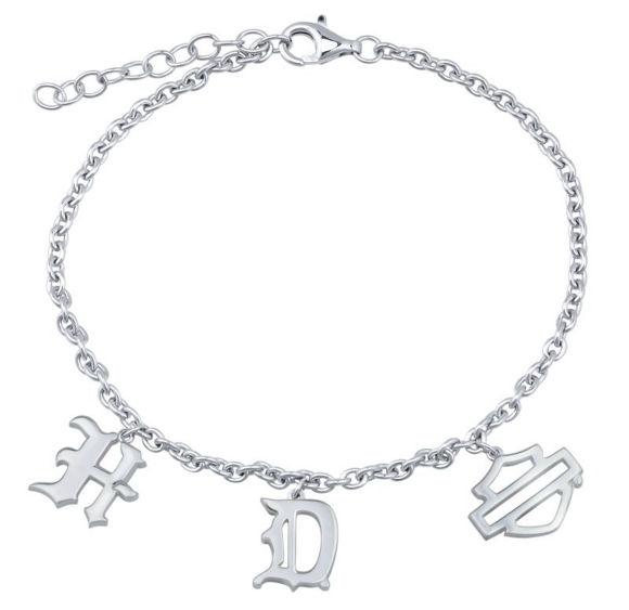 Bracelet mens old english 7 bracelet