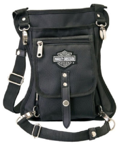 Front view of side slinger 2 in 1 shoulder bag