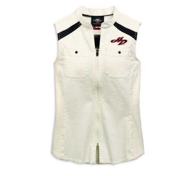 womens zip front shirt