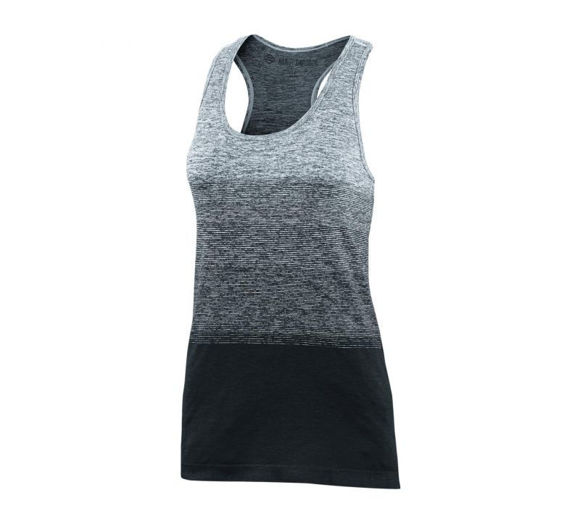 Front view of womens nearly seamless knit tank