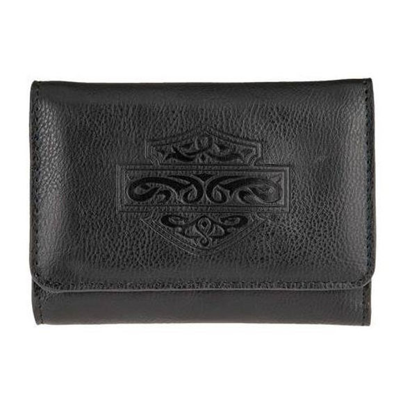 Front view of womens celtic wallet