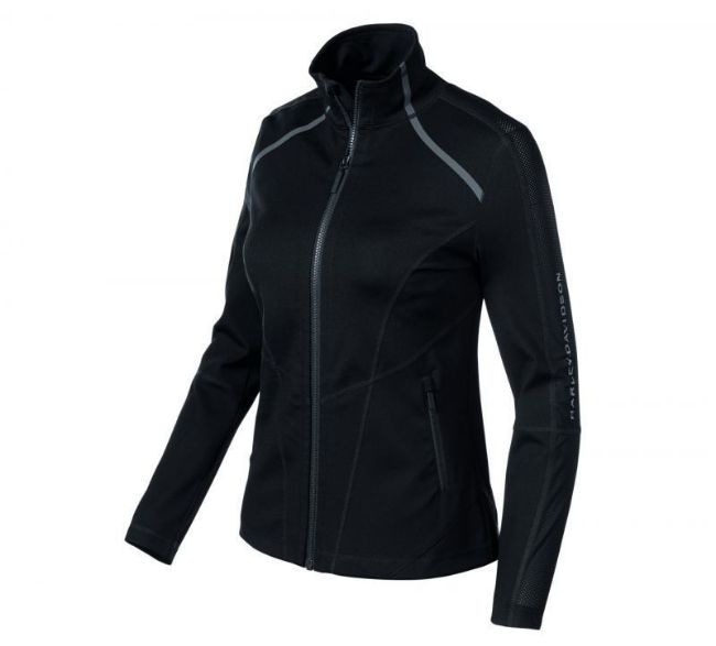 womens stretch mesh accent jacket