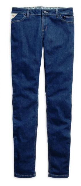 Front view of womens black label skinny mid rise jeans