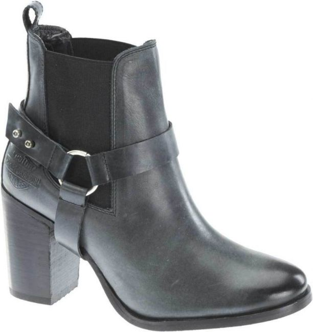 Front view of womens catalani chunk heel casual boots
