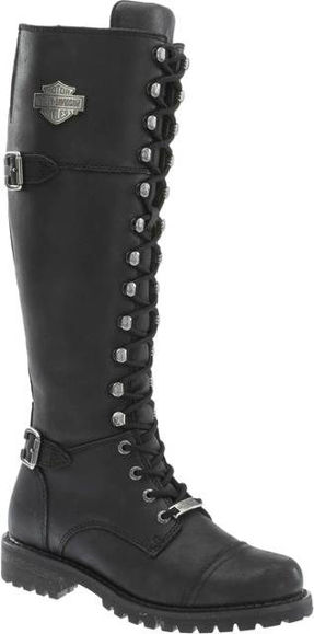 Front view of womens beechwood 15 motorcycle boots