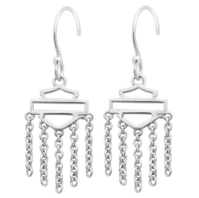 outline bar and shield earrings