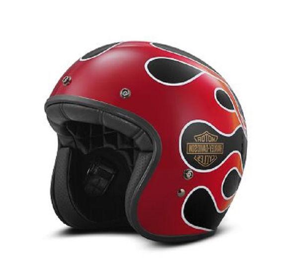 retro flame 3/4 retro helmet