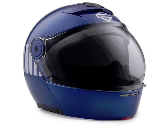 Front view of myer j08 modular helmet blue