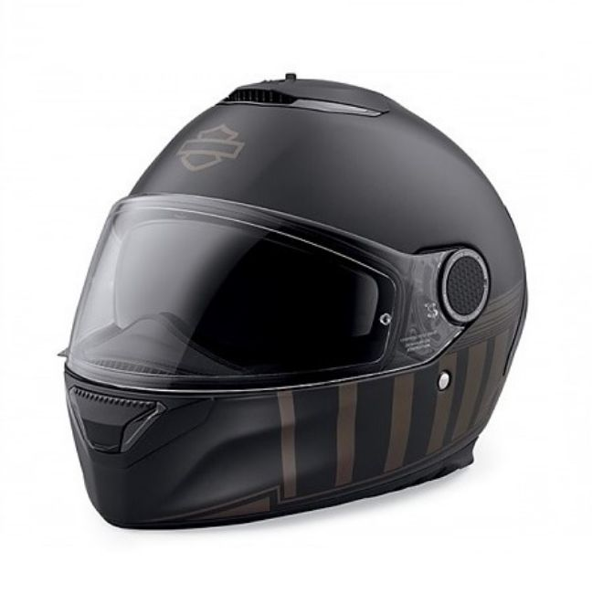 Front view of camelot sun shield full face helmet