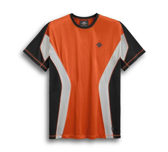 Front view of mens performance short sleeve tee with coolcore technology