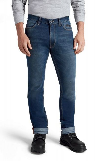Front view of mens fxrg armalith denim jeans