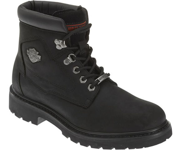 Front view of mens wolverine badlands 6 inch boots black