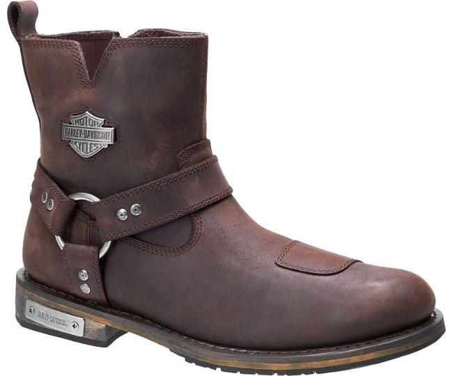 Front view of mens conklin waterproof riding boots