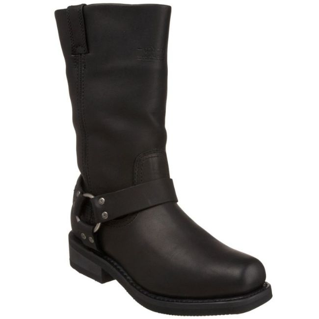 Front view of mens hustin waterproof boots