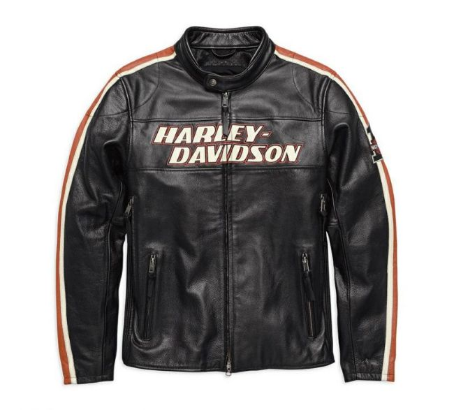 Front view of mens torque leather jacket