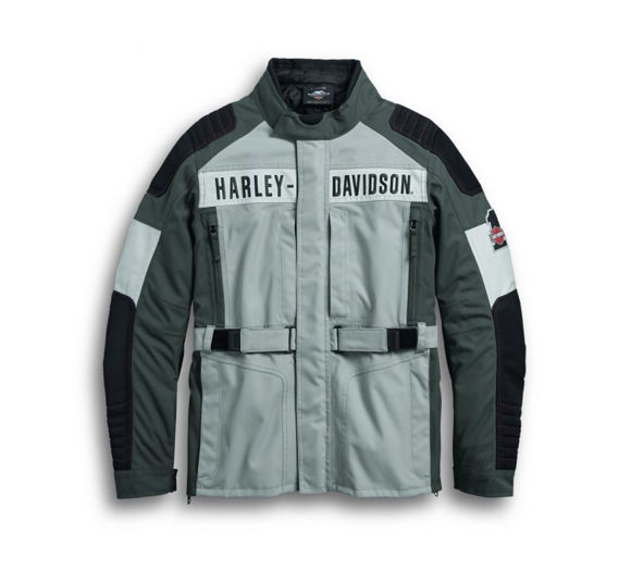 Front view of mens vanocker riding jacket