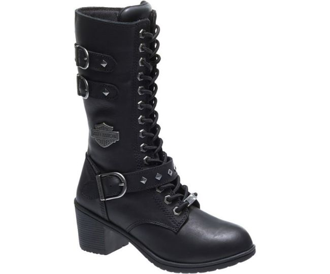 Front view of womens aldale black boots