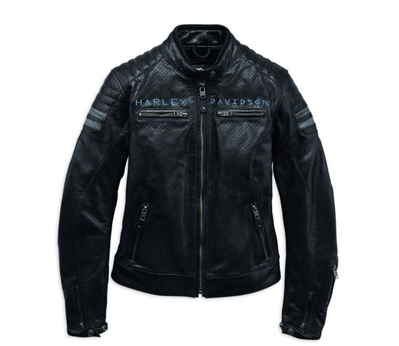 Front view of womens wimberley slim fit leather jacket