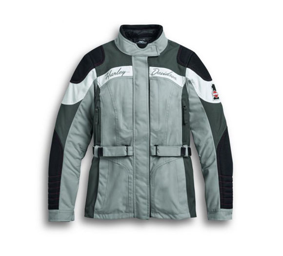 Front view of womens vanocker riding jacket