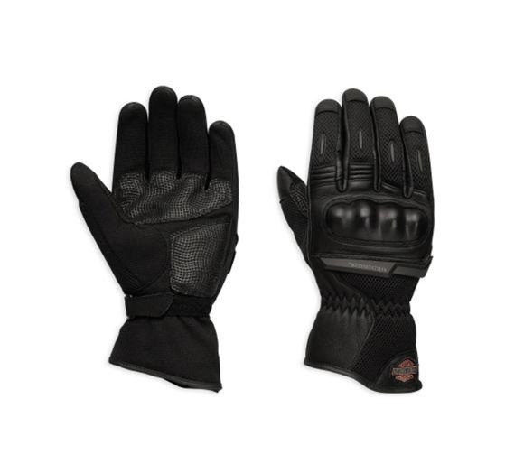 Gloves mens bar shield logo mesh gloves