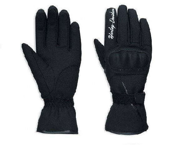 Front view of womens legend soft shell gloves