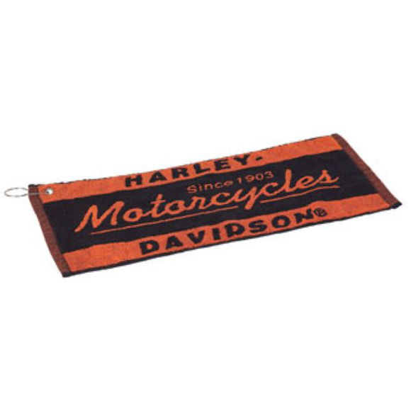 Front view of h d bar towel