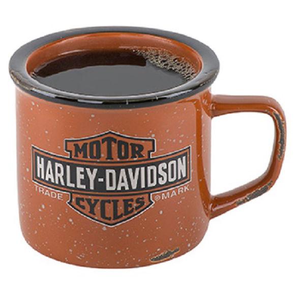 Front view of trademark logo campfire mug