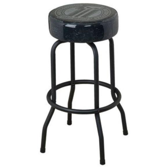 dark custom bar stool