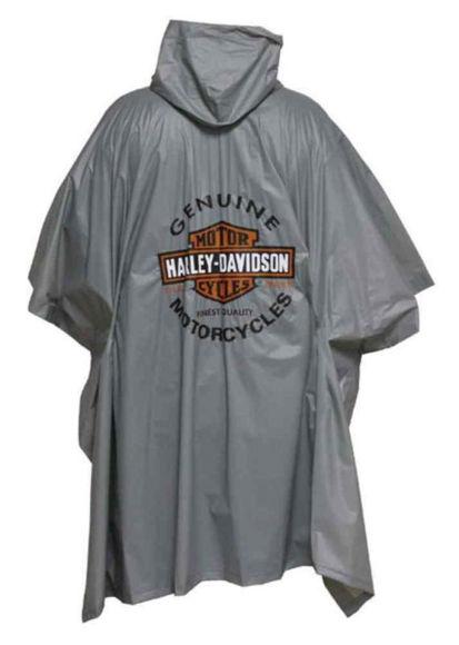bar and shield grey poncho