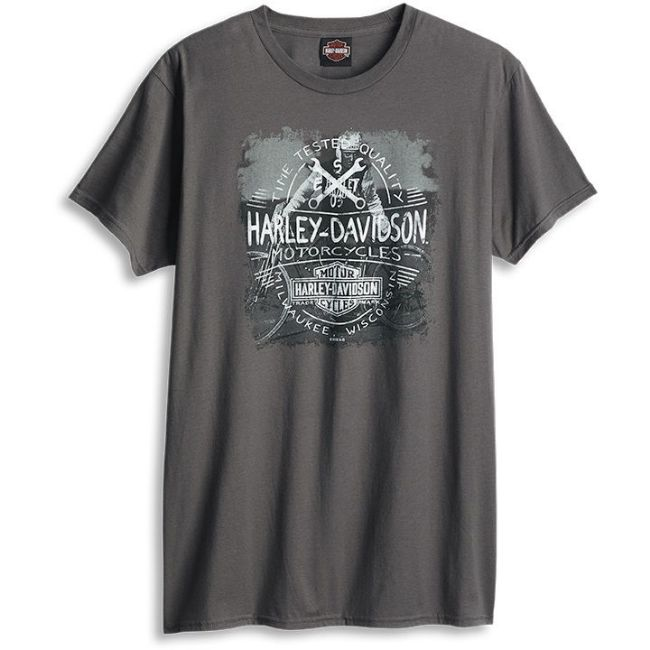 Front view of mens west coast time stamp dealer t shirt