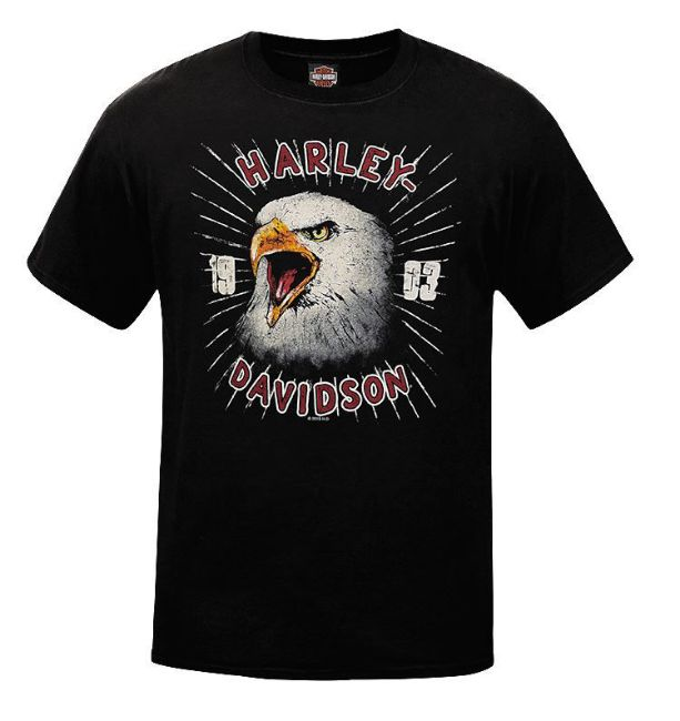 Front view of mens west coast eagle retro tee