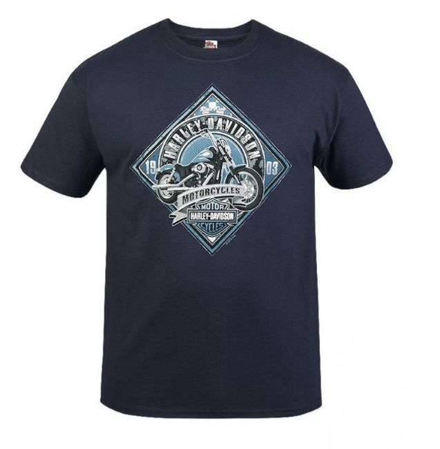 Front view of mens west coast mc sign t shirt