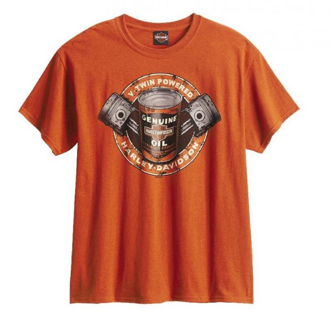 Front view of mens west coast oil spot tee
